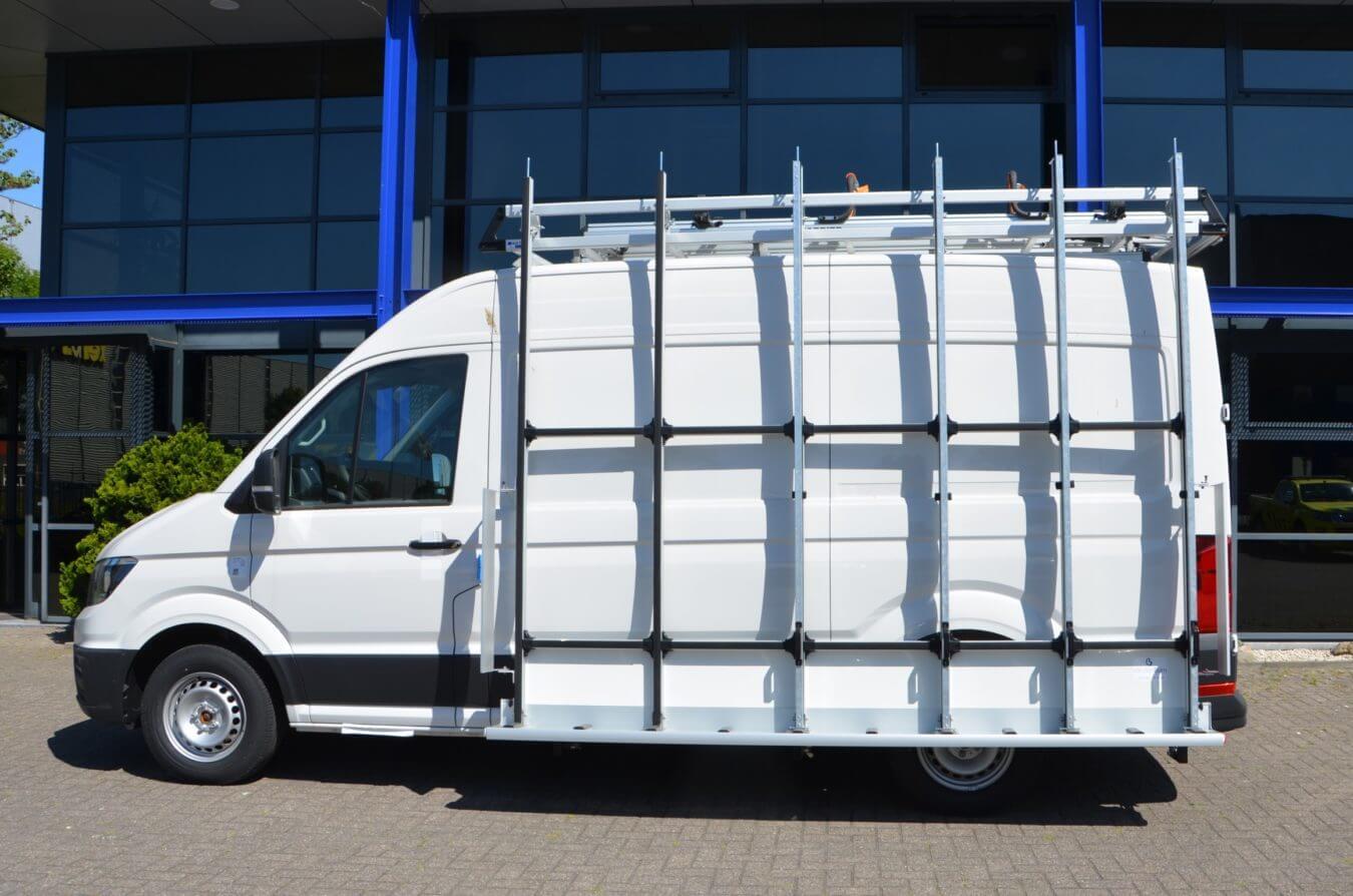 Euroborn glasrasteel op bestelwagen