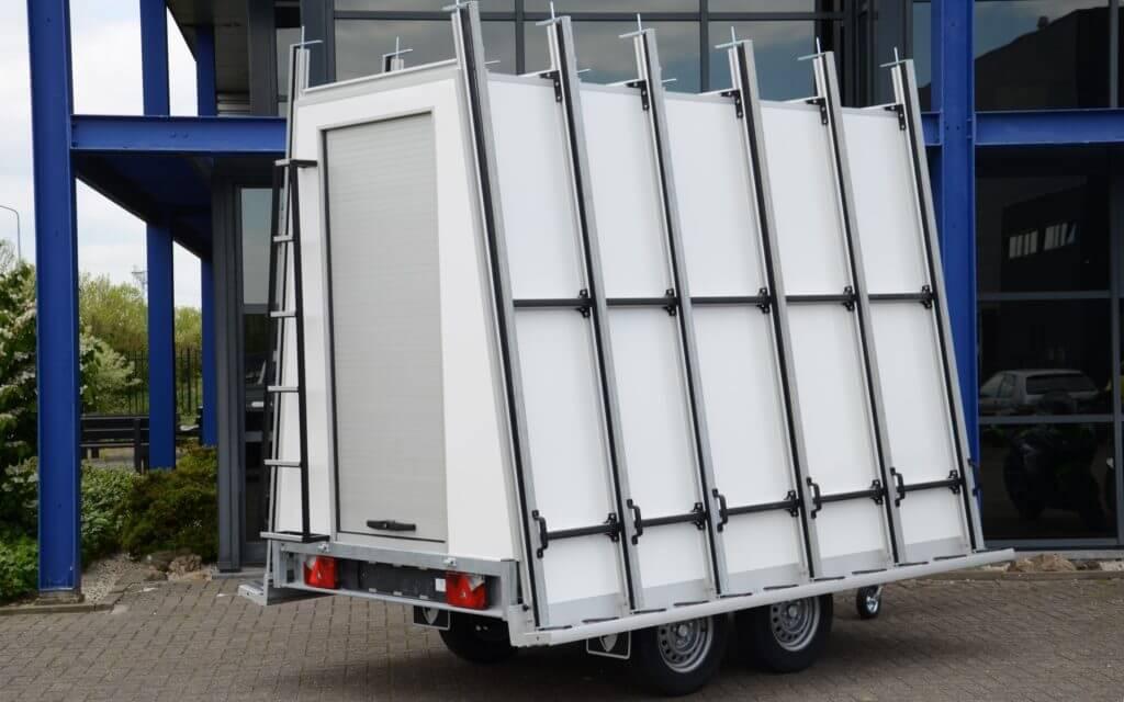 EUROBORN glasrasteel op aanhangwagen