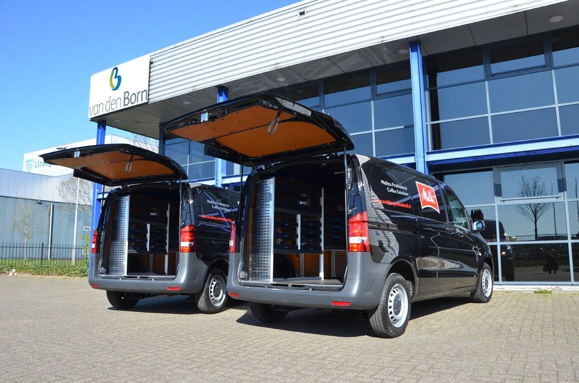Mercedes-Benz bedrijfswagens sortimo bedrijfswageninrichting