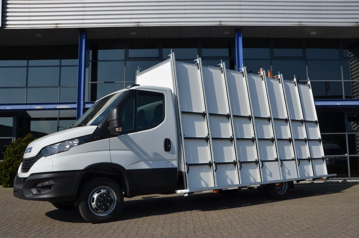 euroborn glasrasteel iveco chassis cabine