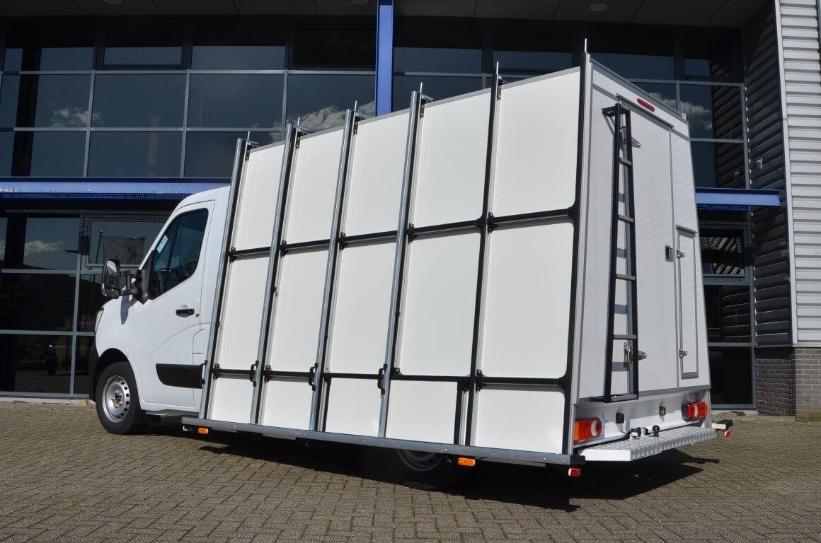 euroborn glasrasteel op chassis