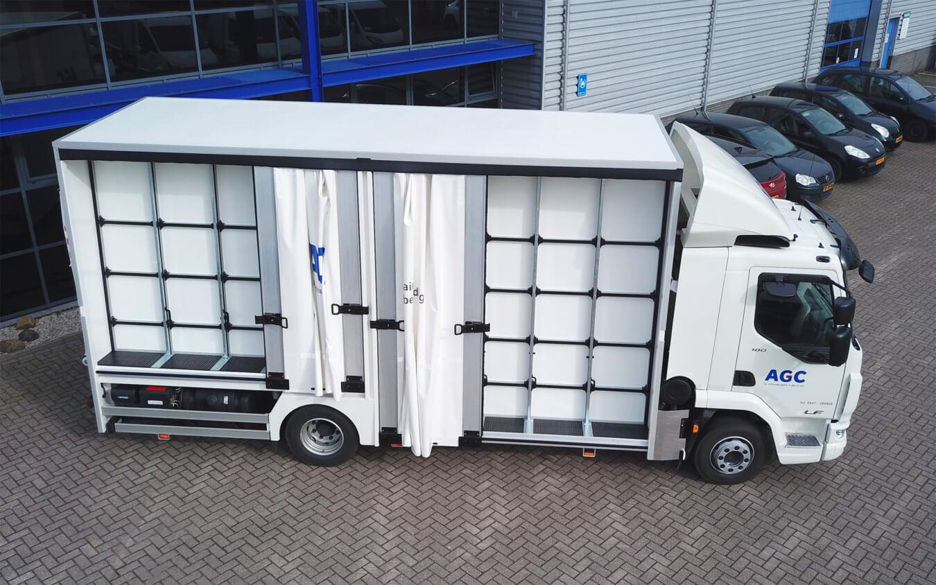 EUROBORN glasrasteel op DAF vrachtwagen