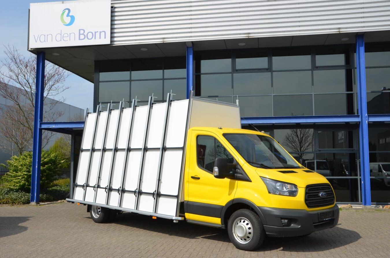 Euroborn glasrasteel op Ford bedrijfswagens