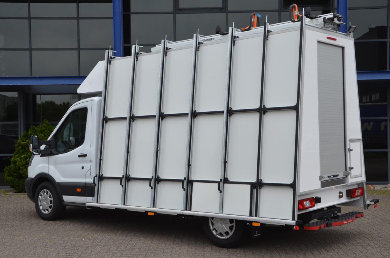 Euroborn glasrasteel chassis cabine ford bedrijfswagen transit