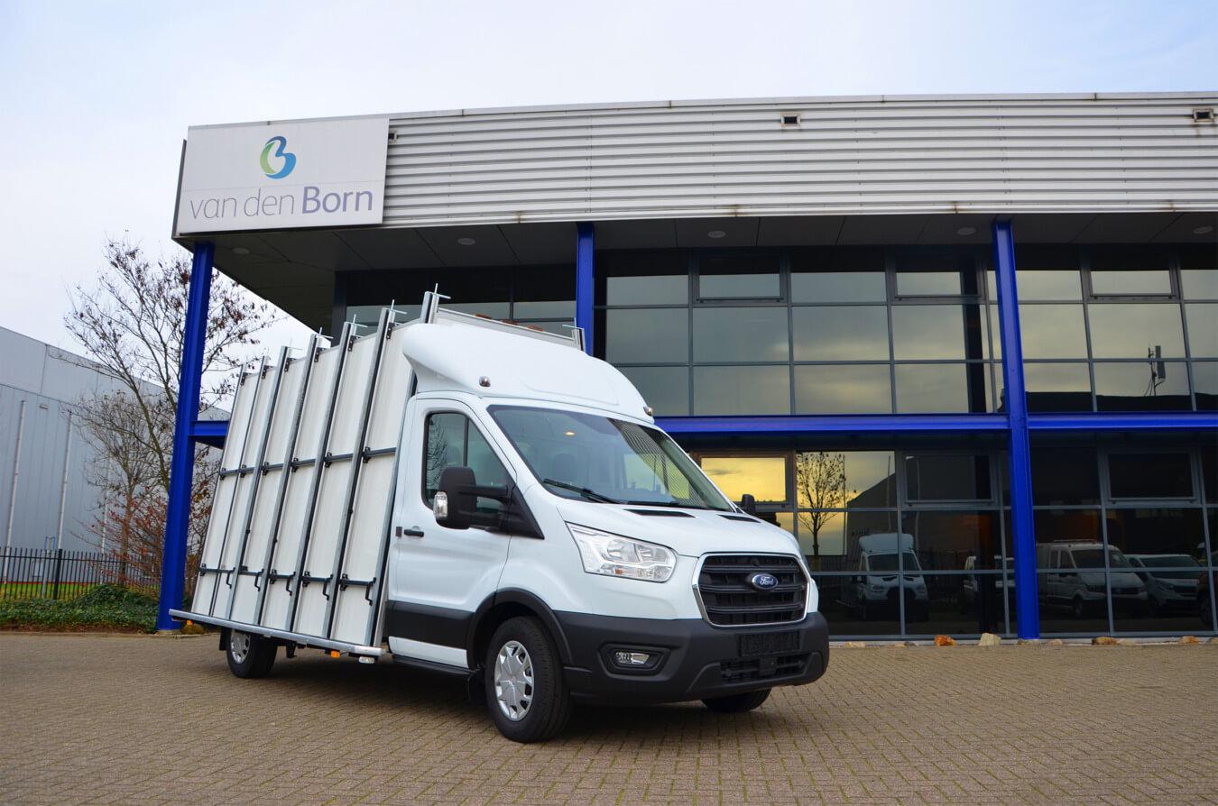 Ford transit glaswagen Van den Born