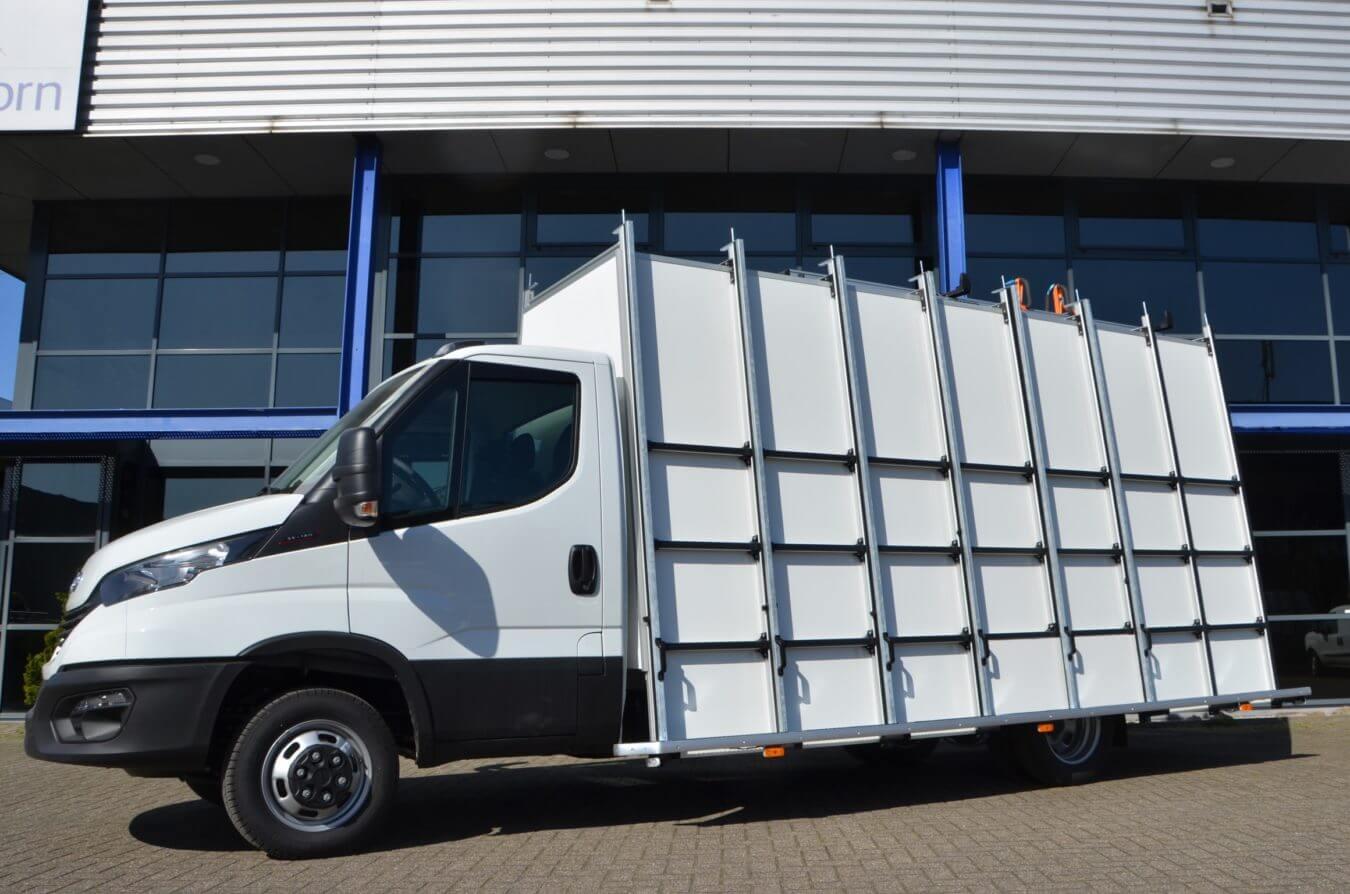 Iveco bedrijfswagens euroborn glasrasteel op chassis cabine