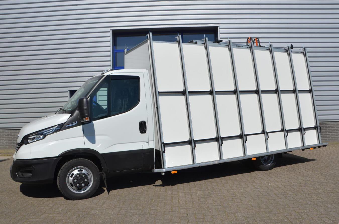 Iveco bedrijfswagenss daily glasrasteel op chassis cabine