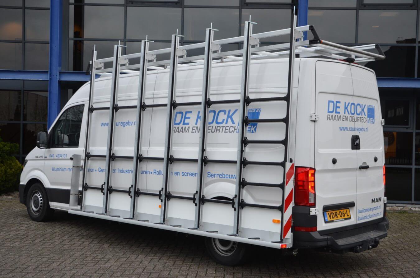 MAN bedrijfswagens euroborn glasrasteel op bestelwagen