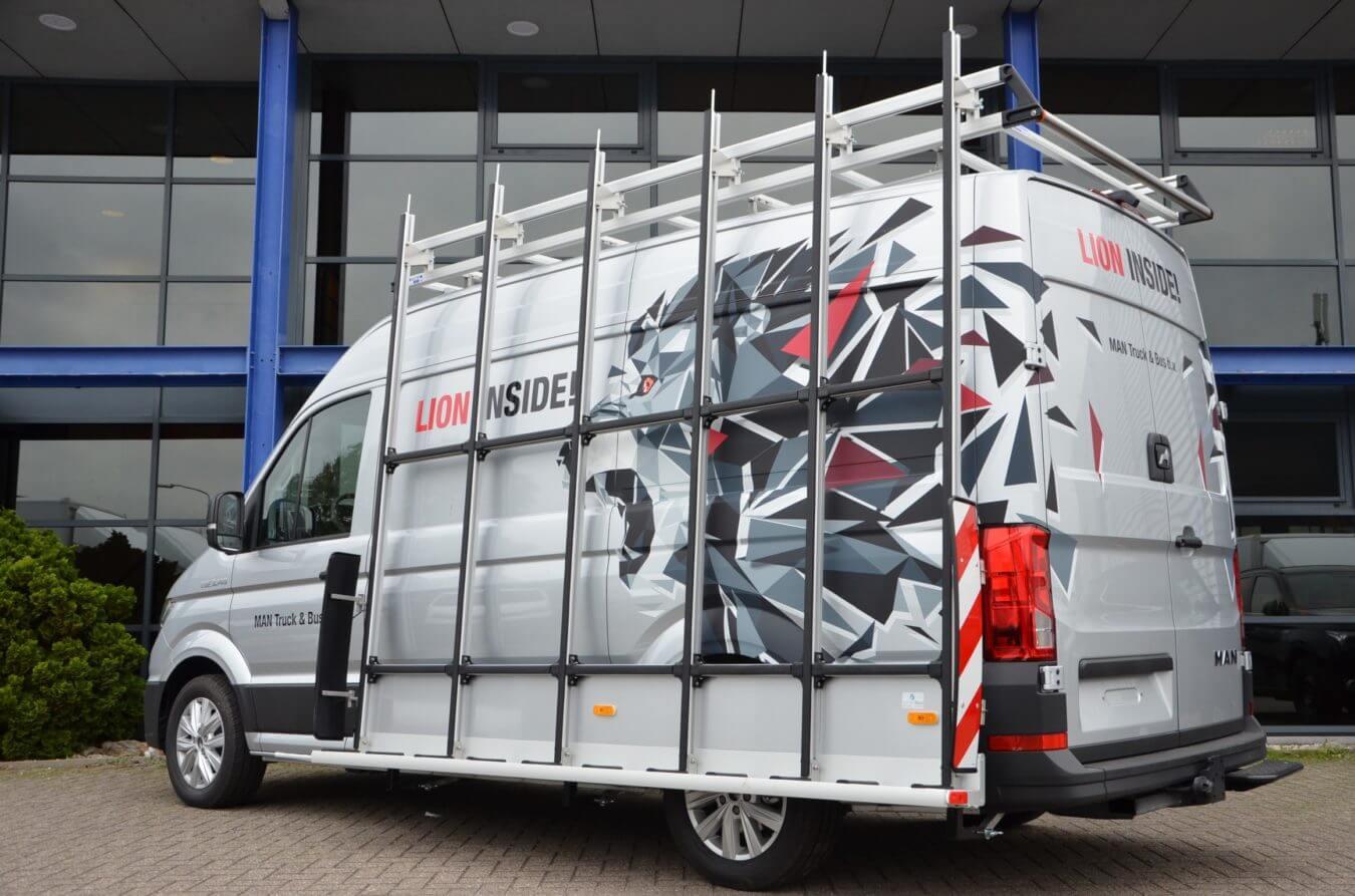 MAN bedrijfswagens euroborn glasrasteel TGE