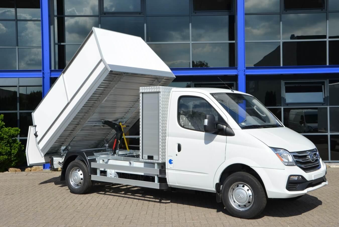 Maxus EV80 chassis cabine veegvuilopbouw