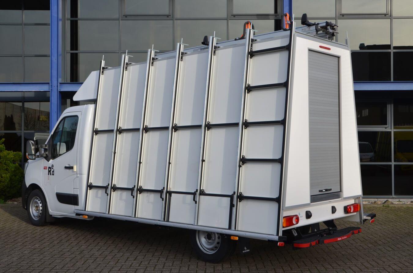 Renault bedrijfswagens euroborn glasrasteel op master chassis cabine
