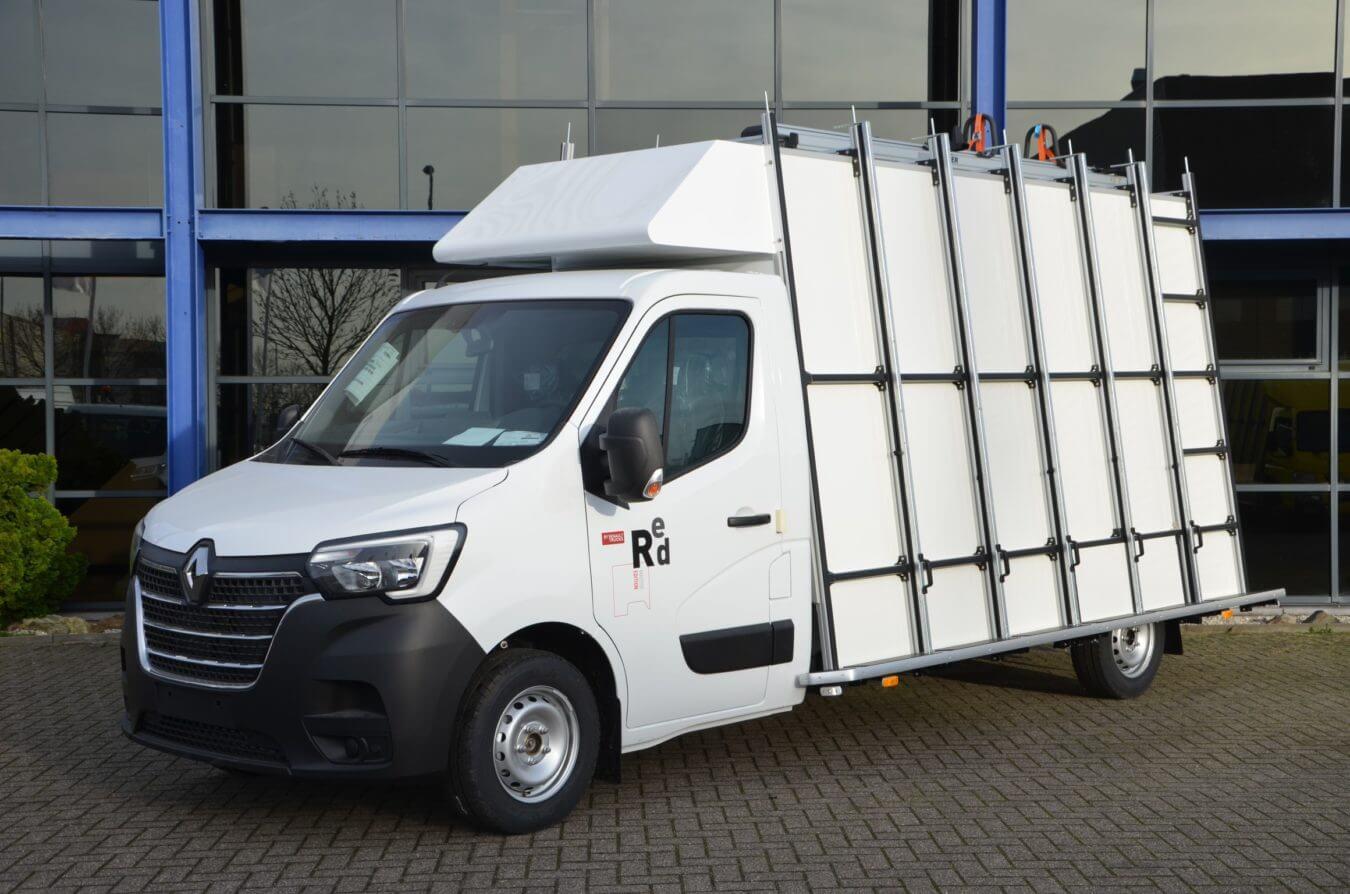 Renault bedrijfswagens euroborn glasrasteel op chassis cabine