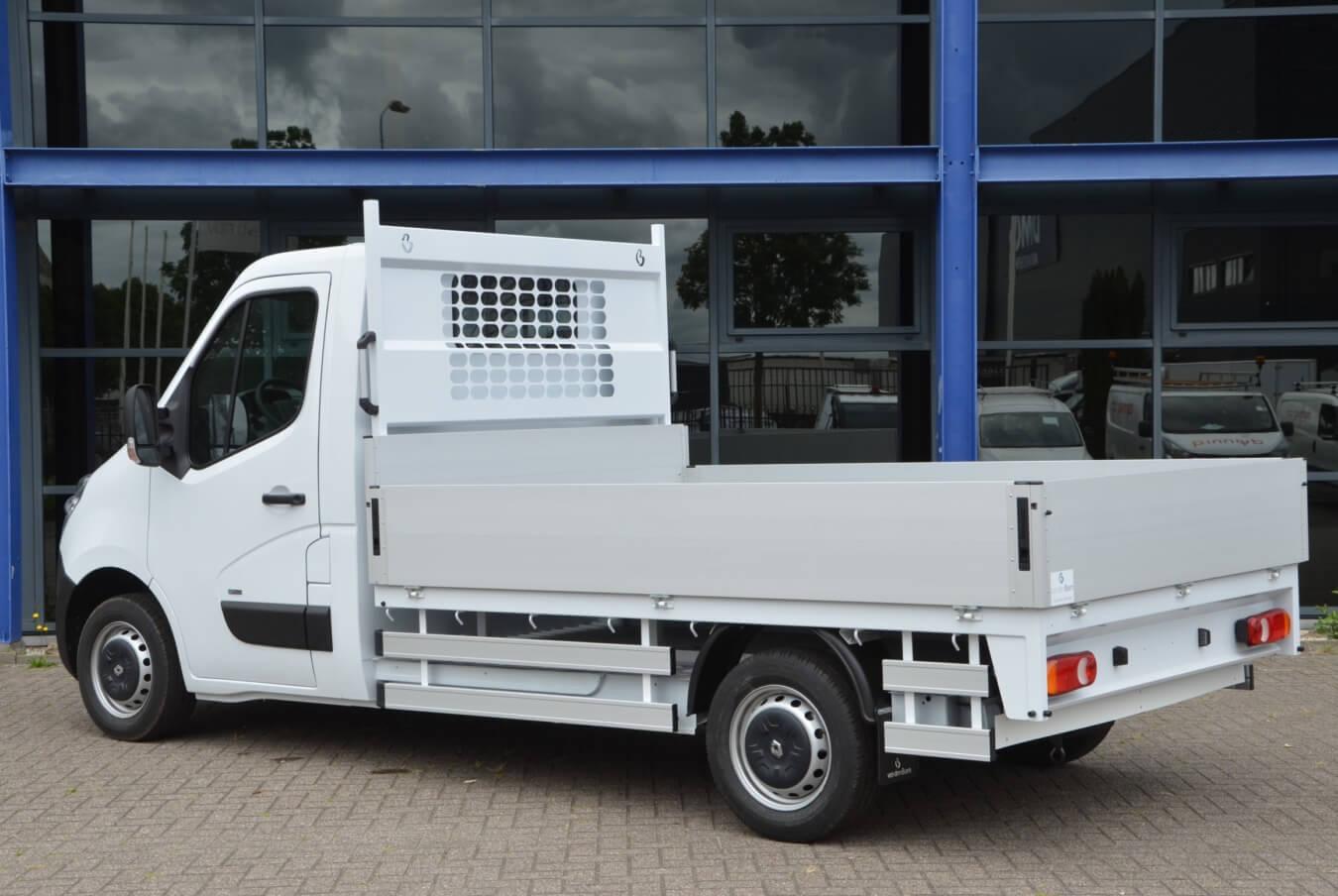 Renault Master ZE elektrische voertuigen met ergo open laadbak