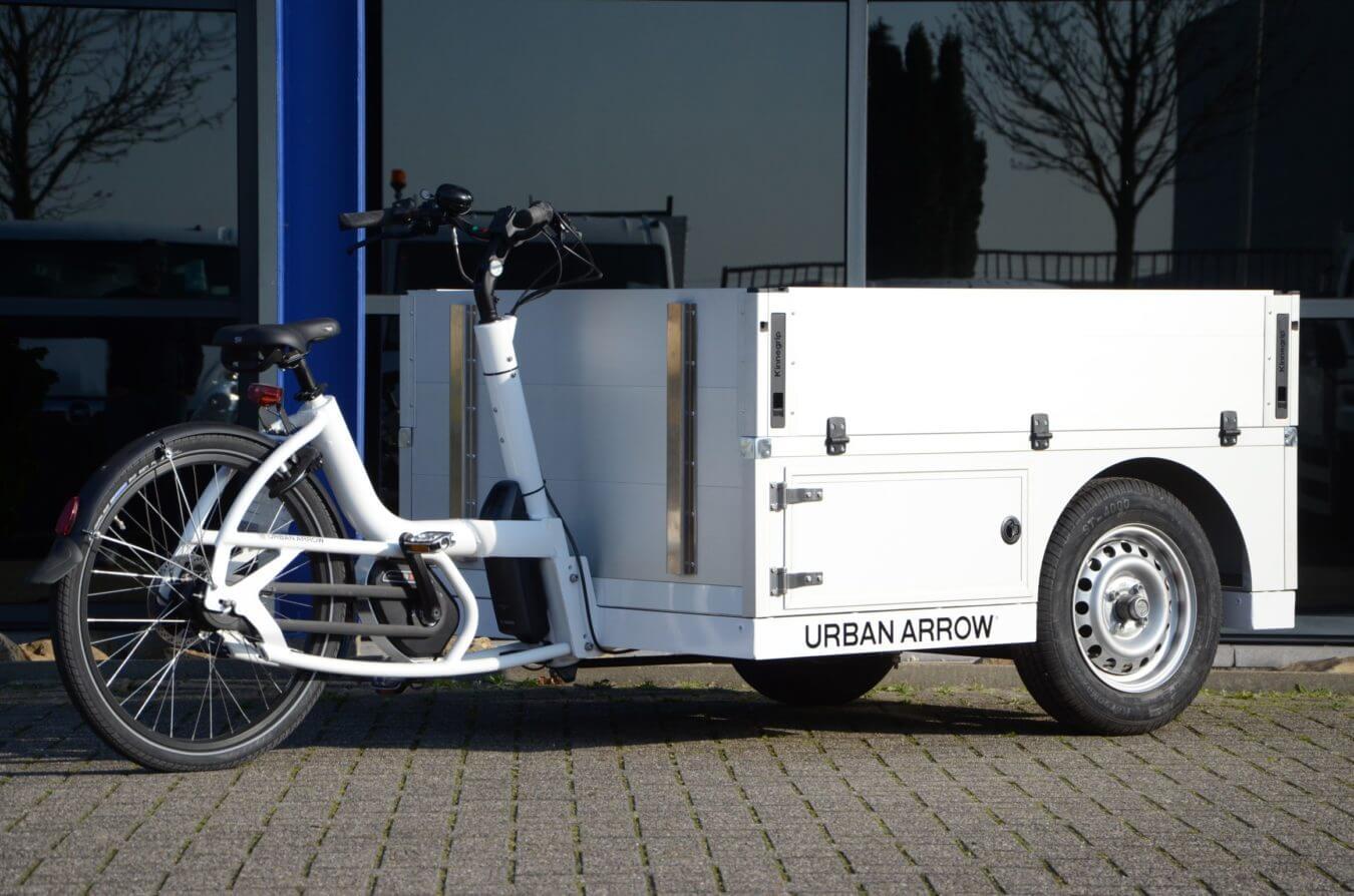 Stadsdistributie fiets met opbouw Productontwikkeling innovatie