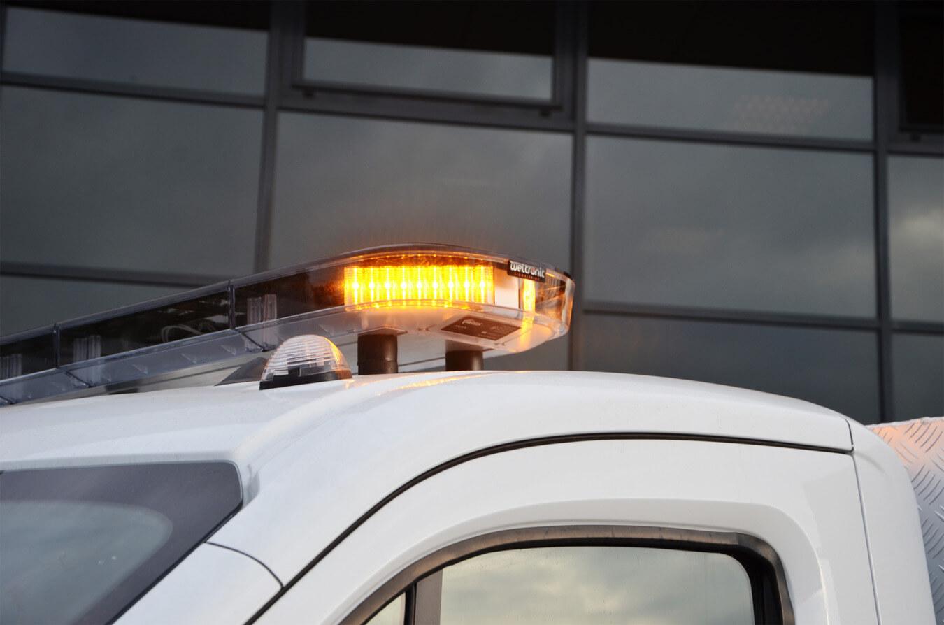Optische signalering weltronics led flitsbalk
