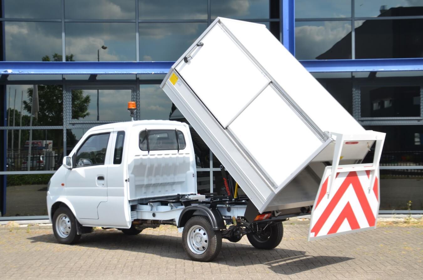 DFSK Citytransporter veegvuilopbouw