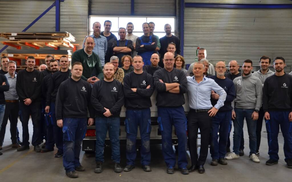 Groepsfoto van den Born personeel 2018