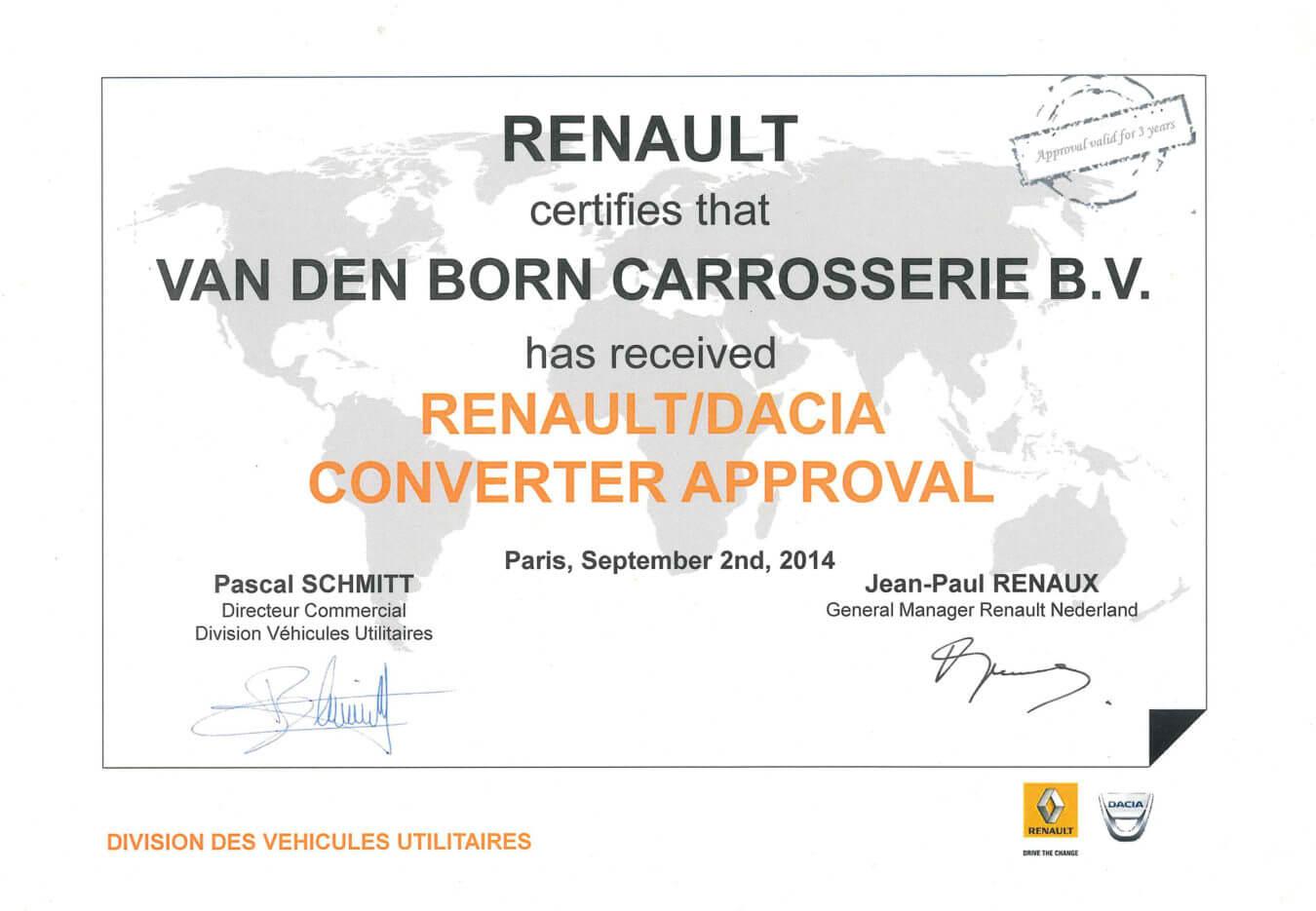 renault converter approval