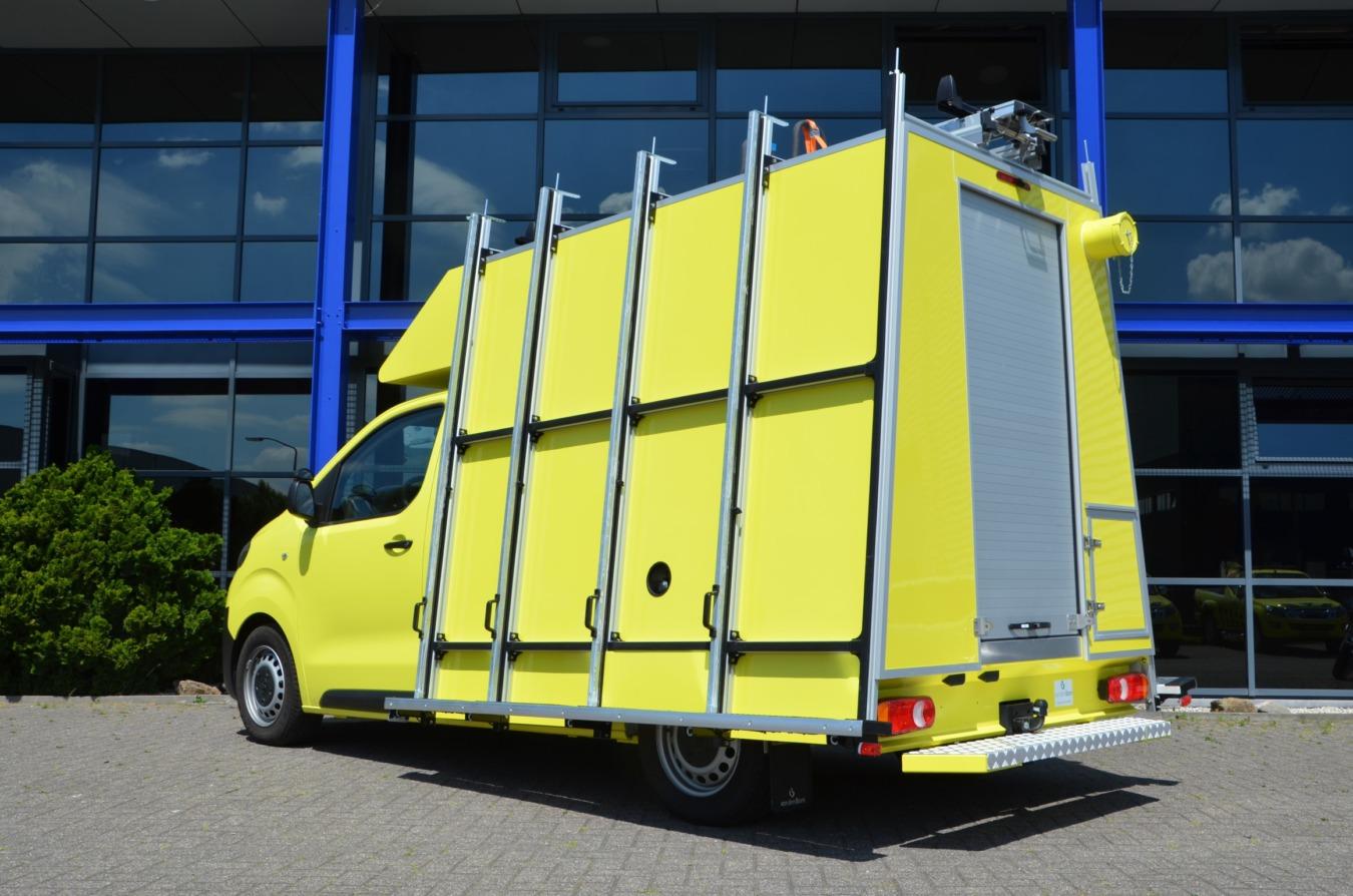 Toyota bedrijfswagens proace glasrasteel op chassis cabine