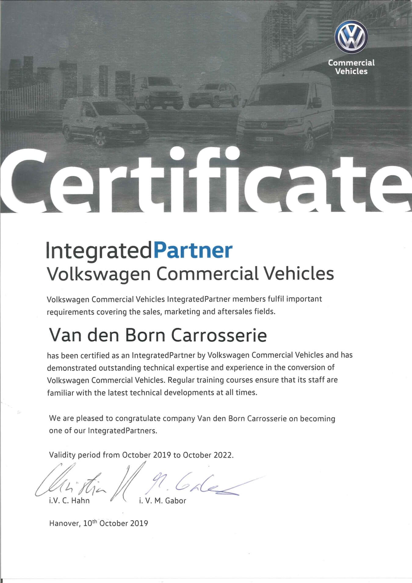 volkswagen integratedpartner