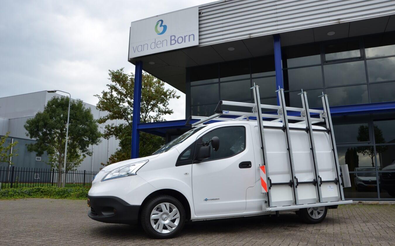 Nissan e-NV200 elektrische bedrijfswagen glasrasteel