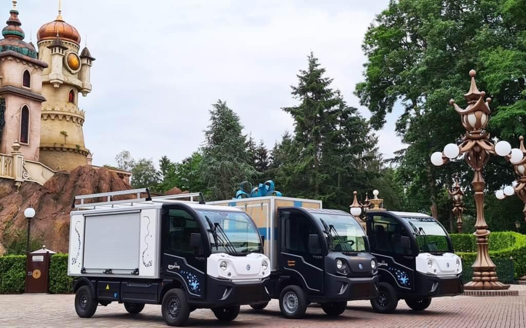 Goupil G4 bedrijfswagens in de Efteling