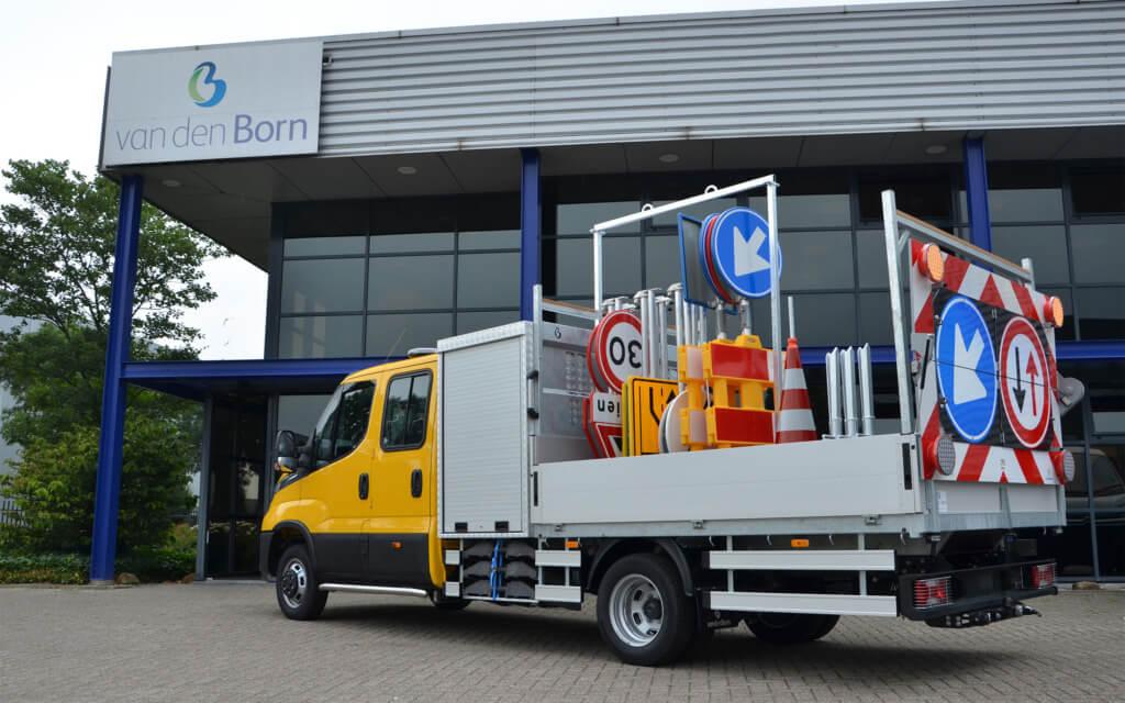 Open laadbak op Iveco Daily chassis cabine